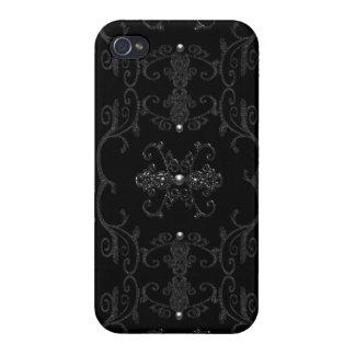 Gotiska elegansjuvlar för vintage iPhone 4 hud