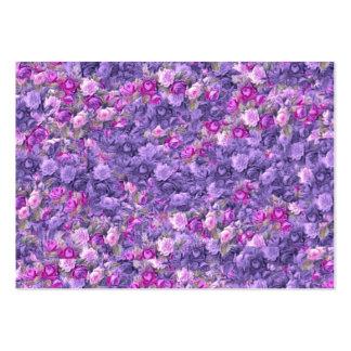 Gotiska rosa lavendellilor för vintage visit kort