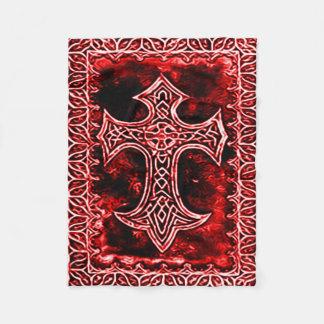 Gotiskt blodkorsymbol fleecefilt