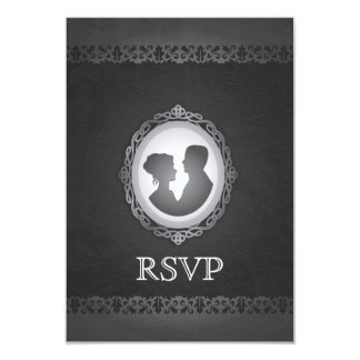 Gotiskt Cameobröllop OSA för Victorian 8,9 X 12,7 Cm Inbjudningskort