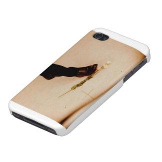 Gotiskt fodral för vitblomma iPhone 4 skydd