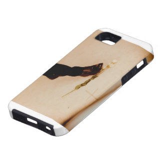 Gotiskt fodral för vitblomma iPhone 5 hud