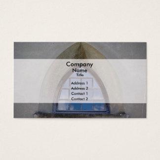 Gotiskt fönster visitkort