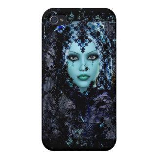 Gotiskt mobilt fodral för blåttänka iPhone 4 hud