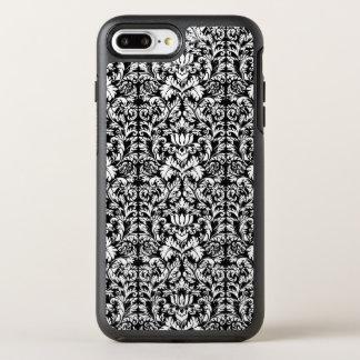 Gotiskt svart damastast Noir för klassikerrokokor OtterBox Symmetry iPhone 7 Plus Skal