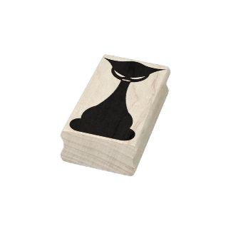 Gotiskt svart frimärke för kattsilhouettekonst stämpel
