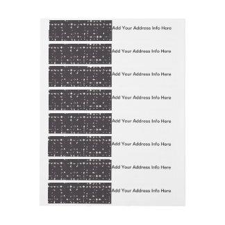 Gotiskt urblektt svart mönster för etikettband