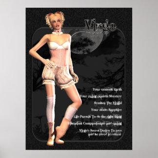 Gotiskt Zodiactryck för våg Poster