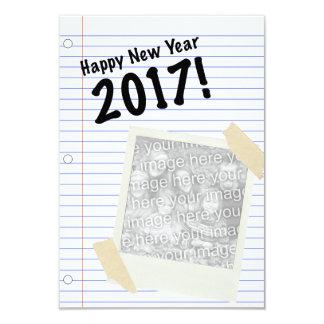 Gott nytt år 2017 8,9 x 12,7 cm inbjudningskort