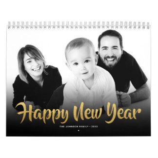 Gott nytt år 2018 för kalenderfamiljfoto kalender