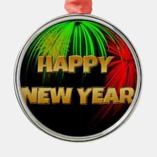 Gott nytt år avbildar julgransprydnad metall
