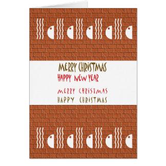 Gott nytt år för god jul n hälsningskort