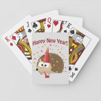 Gott nytt år! Igelkott Kortlek