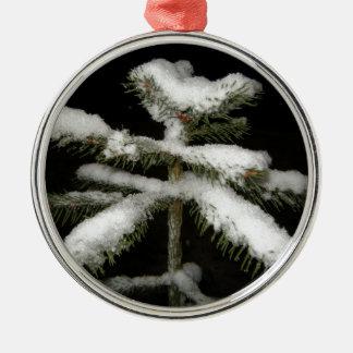 Gott nytt år julgransprydnad metall