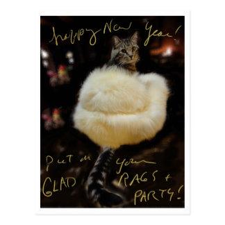 Gott nytt år!  Pålagt ditt glada trasor och party! Vykort