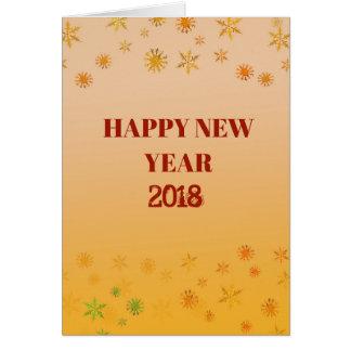 Gott nytt år Postacrd 2018 Hälsningskort