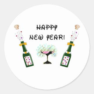 Gott nytt år runt klistermärke