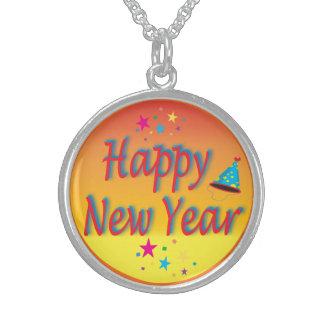Gott nytt årorange sterling silver halsband