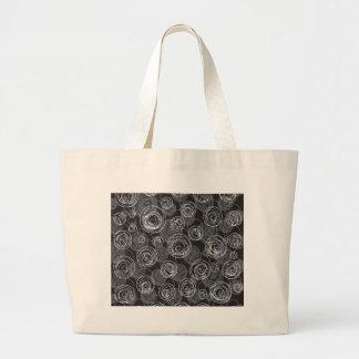 grå abstrakt konst jumbo tygkasse