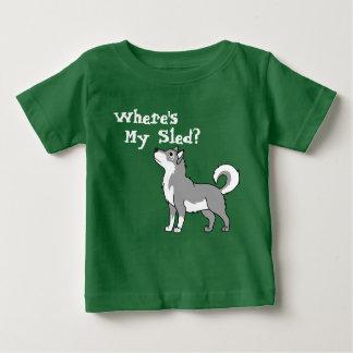 Grå alaskabo Malamute T Shirt