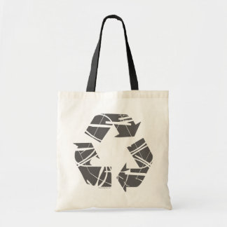 Grå återvinning undertecknar budget tygkasse