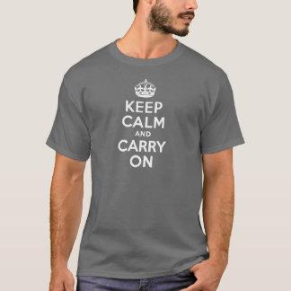 Grå behållalugn och bär på t shirt
