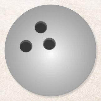 Grå bowlingklot underlägg papper rund