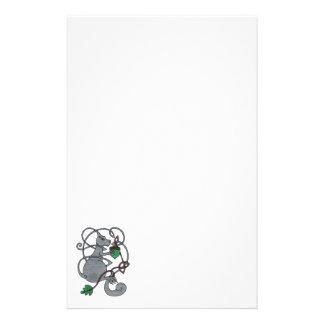 Grå ekorrebrevpapper brevpapper