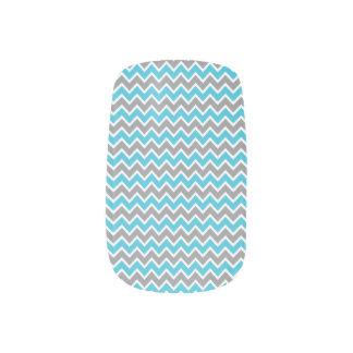 Grå färg/aqua för sparremönsterslyna) konst för naglar