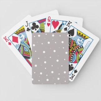 Grå färg bubblar spelkort
