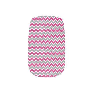 Grå färg/fuchsia för sparremönsterslyna) nail stickers