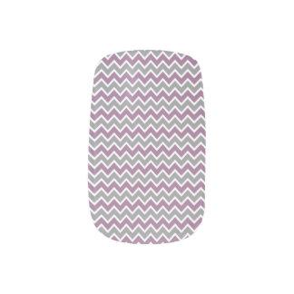 Grå färg/lilor för sparremönsterslyna) nagelkonst