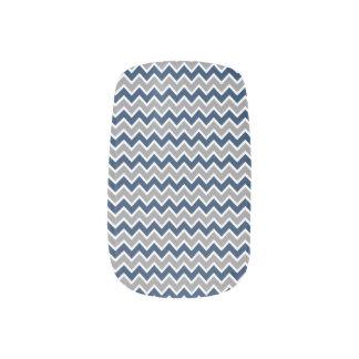 Grå färg/marin för sparremönsterslyna) nagelkonst