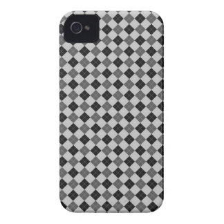 Grå färg skalaa Argyle iPhone 4 Case-Mate Skal