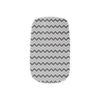 Grå färg/svart för sparremönsterslyna) nail art