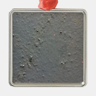 Grå färg texturerad ojämn yta med concete julgransprydnad metall