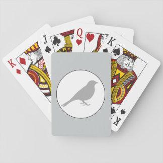 Grå färgfågelgrå färg som leker kort spelkort