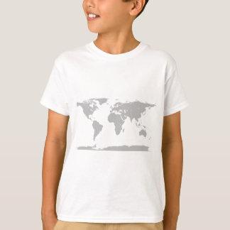 grå färgjordklot t-shirts