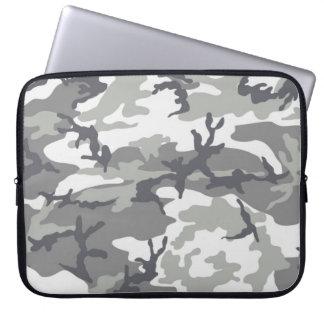 Grå färgkamouflagelaptop sleeve
