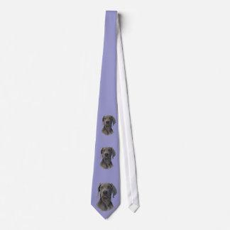 Grå färgspökeWeimaraner slips