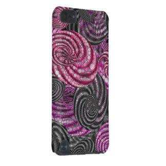 Grå färgTwirly för rosor svart abstrakt iPod Touch 5G Fodral