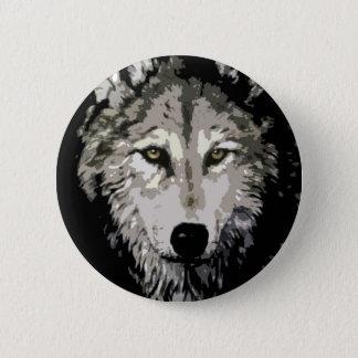 Grå färgvarg standard knapp rund 5.7 cm