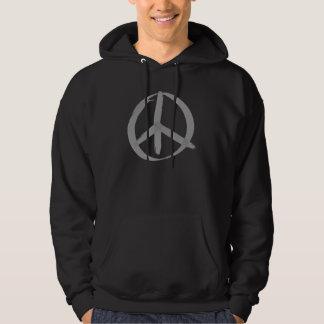 Grå fredstecken hoodie