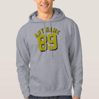 Grå & gul sportJersey för vuxen | design Sweatshirt Med Luva