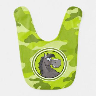 Grå häst; ljust - grön camo, kamouflage hakklapp