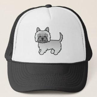 Grå illustration för röseTerriertecknad hund Truckerkeps