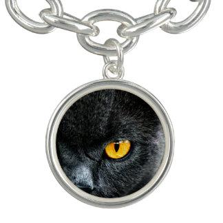 Grå katt med orange ögon armband