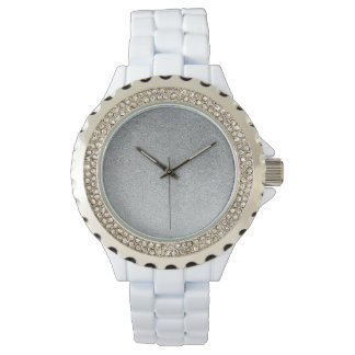 Grå Look Watchface för Sand för Ombre glittergrå Armbandsur