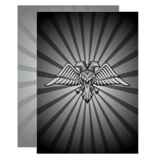 Grå örn med två huvud 12,7 x 17,8 cm inbjudningskort