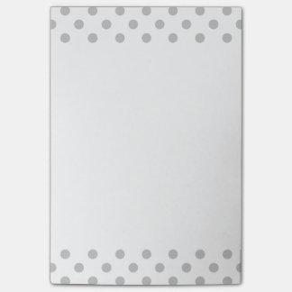 Grå polka dots Posta-Honom anteckningsbok Post-it Block